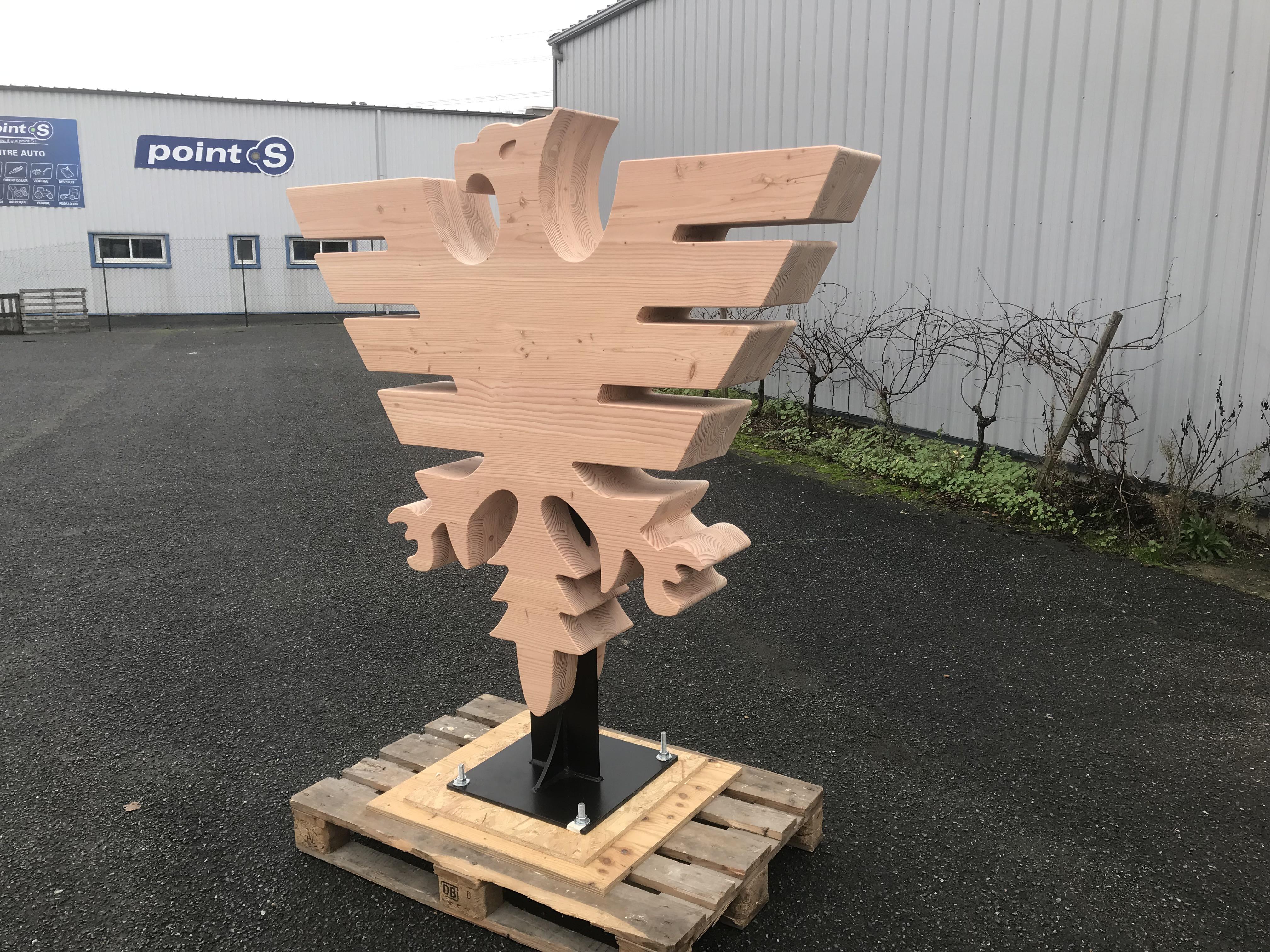 Logo géant bois