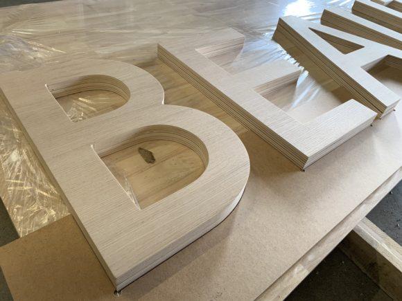 Lettres en bois